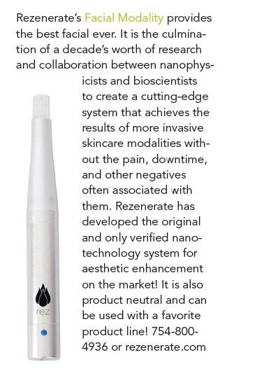 Rezenerate NanoFacial Featured in August 2017 Dermascope Magazine - Worth A Look