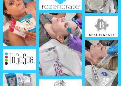 ToGoSpa, Seoul Mamas & Beautigenix Masks pair perfectly with the Rezenerate NanoFacial!